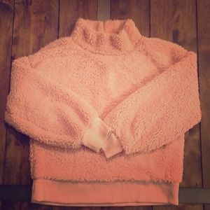 Gap fleece funnel neck pullover